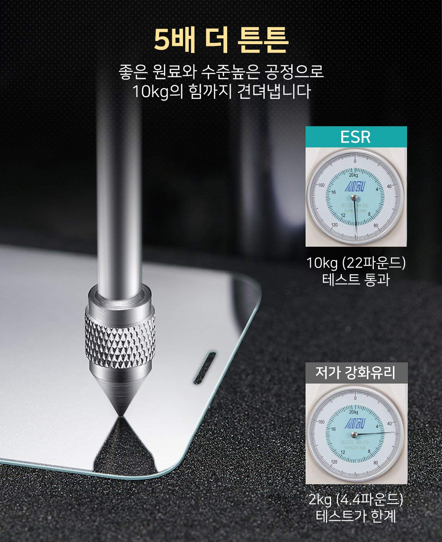 ESR 아이폰Xs Max 5X 가이드 강화유리 - 이에스알, 11,900원, 필름/스킨, 아이폰XS MAX